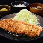 三元豚ロースかつ膳(80g)