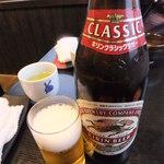 くらさわや - ビール中瓶(525円)
