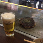 126874211 - 豚玉とビール