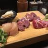炉端処 一心 - 料理写真:刺身5点盛り 薬味はネギ、ワサビ、生姜