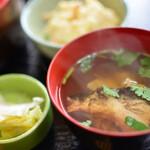 魚亭 岡ざき - 汁物と小鉢と香の物