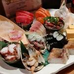 東池袋 魚金 - 刺盛り 2480円