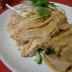 長安刀削麺 - 鶏鶏 (゜Σ ゜っ)βコケーッ 胡麻ダレだったか(・。・?