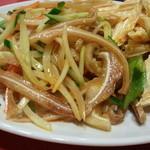 長安刀削麺 - 湯葉&ミミガー 食感堪りません♪