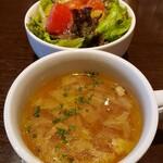 ハンクアンドベティ - スープ・サラダ セット