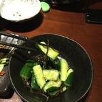 鳥どり - 塩昆布たたき胡瓜