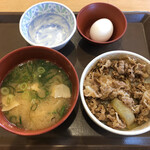 すき家 - 牛丼モーニングセット
