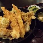 草笛 - 天丼(小盛り)