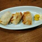 ChaoVia - 鶏チーズ餃子揚ハーフ¥300