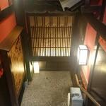 土風炉 - 階段をおりて