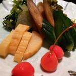 米沢牛黄木 - 漬け物の盛り合わせ