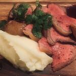 魚介ビストロ sasaya BYO - 大沼牛ランプ肉のステーキ
