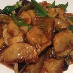蓬溪閣 - ジャガイモと茄子とピーマンの炒め物 酸味のある餡かけ炒めで辛くないけど美味しい