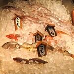 一郎屋 - 氷の中にお魚います♪♪
