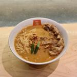 麺屋虎杖 - パーコーカレー坦々麺(990円)