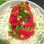 水炊き風もつ鍋 もつ彦 - トマトキムチ