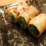 てびち屋本舗 - 菜の花豚肉巻き串