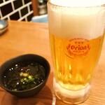 てびち屋本舗 - 先ずはオリオンビールで乾杯ですね(b'3`*)