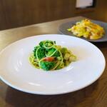 ELMO - ランチ:帆立とプチヴェール菜の花ジェノベーゼ