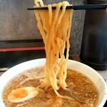 ら~めん亭にしやま - ら~めん亭 にしやま@東新潟 背脂ら~めん・大盛 麺リフト