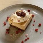 お肉料理とBBQもできる カフェレストラン ダイニングカフェ スクエア - 料理写真:黒蜜きな粉チーズケーキ ※期間限定