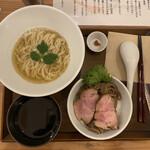 自家製粉石臼挽き小麦 洛中その咲 - 料理写真:イケ麺 kasane combo 1,050円