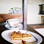 めぐみコーヒー - 木の実のタルトと紅茶