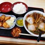 さかえ食堂 - ラーメンセット 930円(税込)
