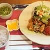 茱萸 - 料理写真:本日のおすすめセットE  からあげ と ハンバーグ