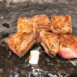 神戸牛 鉄板焼 リオ - 黒毛和牛ロースの鉄板焼