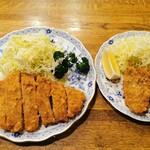 126947296 - ロースかつ定食&カキフライ