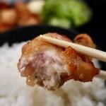 佐賀県三瀬村ふもと赤鶏 - 鶏トロの唐揚げ定食・ご飯大盛(850円)