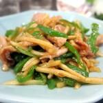 酒亭 玉河 - 竹の子とピーマンの豚肉炒め¥510