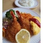 レストラン美松 - 海老フライランチ\1050