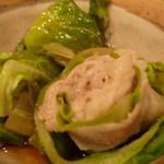 京風創作料理 一 - 旬魚の春キャベツ巻き