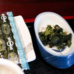 瀬戸内味処 活 - 漬物と味付海苔