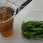 庵 - 枝豆(300円)+ウーロンハイ(350円)