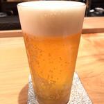 焼き鳥 とりら - 生ビールで乾杯