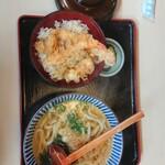 讃岐うどん大鳴門 - 料理写真:天丼セット(温うどん)