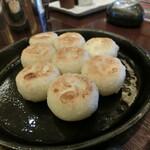 126978668 - 丸餃子、鉄皿一口ギョウザ?