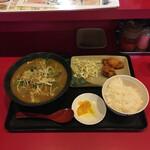 元喜神 - からあげセット¥980 鶏白湯カレーラーメン変更 ¥150