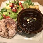 フタバフルーツパーラー - 煮込みハンバーグプレート〜いちじくデミソース‥1,380円