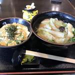 甲州麺 - きうねほうとうセット750円(税込)