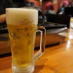 焼肉 鐵 - 生ビール 580円