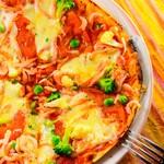 桜海老と春野菜のピッツァ