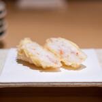 たきや - 柴山の蟹の湯葉巻き  蟹味噌と