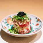 たきや - トマトと蟹のタルタル キャビア