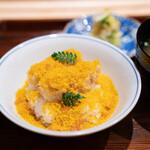 たきや - 河豚の天ぷらのご飯、唐墨 河豚のあら汁 香の物