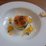 六甲山のオーベルジュnaare - 2020春マスのマリネと春野菜のサラダ