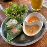 ベトナム食堂cafeシクロ - レディースセット 生春巻き